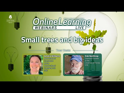 Webinar: Small Trees and big ideas (With Rob Northrop & Amelia Williams)