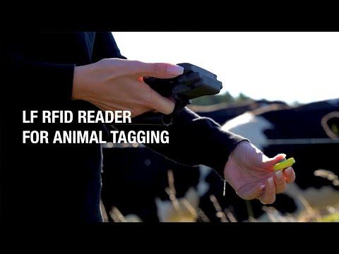 Handheld NAUTIZ X6: LF RFID reader for animal tagging