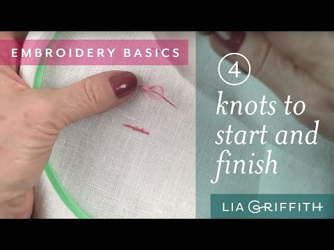 How To Start and End Your Embroidery Project