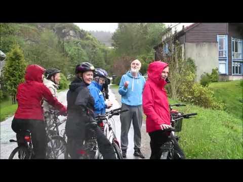 Blåtur på sykkel   i regn