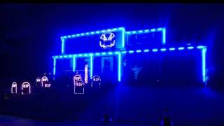 Halloween Light Show 2015 - Ghostbusters by Kidz Bop