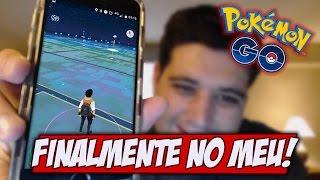 Finalmente tenho Pokemon GO no celular, vocês querem video?
