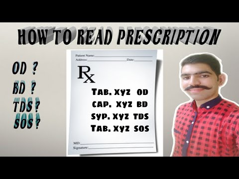 cdf3a8b886 डॉक्टर का पर्चा कैसे पढ़े  how to read doctor prescription - YouTube