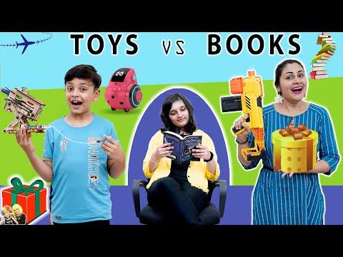 TOYS vs BOOKS SWITCHUP Challenge   Surprise Box   Family Challenge   Aayu and Pihu Show