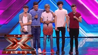 Overload sing their own song No, No, No  | Arena Auditions Wk 1 | The X Factor UK 2014