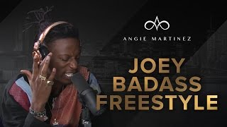 "Joey Badass Murders Freestyle over Kodak Black's ""Tunnel Vision"" on The Angie Martinez Show"