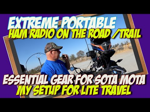 Taking the IC 705 on a Motorcycle trip | My Essential IC 705 Accessories Part 1