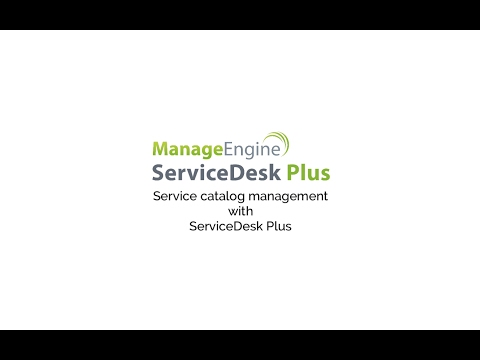 Service catalog management with ServiceDesk Plus