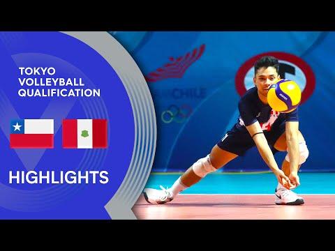 Chile vs. Peru - Highlights | CSV Men's Men's Tokyo Volleyball Qualification 2020