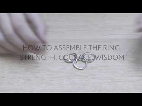 How to assemble the Trollbeads Strength, Courage & Wisdom Ring