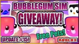 ❤️️Bubble Gum Simulator Pet Giveaway Valentines UPDATE