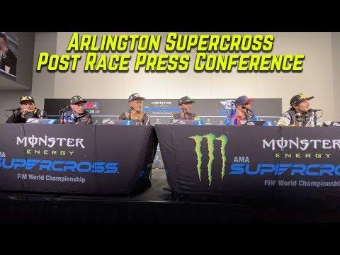 Arlington Supercross Post Race Press Conference - Motocross Action Magazine
