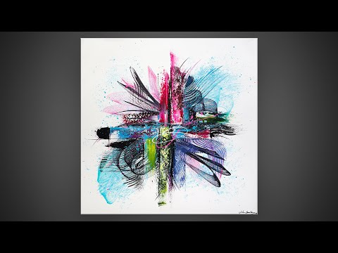 PAINTING KNIFE  / FLUORESCENT COLORS / ACRYLIC / ABSTRACT PAINTING | CA.NY