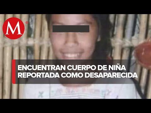 Localizan el cuerpo de niña reportada como desaparecida a 500 metros de su hogar en Tixtla