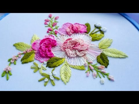 Flower embroidery: flower stitch | Цветочная вышивка|Bordado de flores