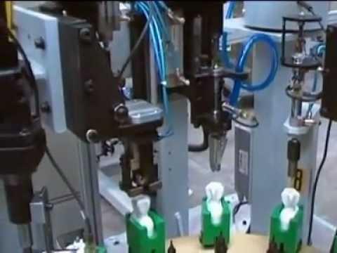 Plastik Radyatör Vanası Montaj Makinesi ve Paketleme Makinesi -