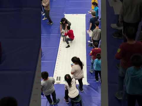 亞洲機器人運動競技大賽-飆創意軌道國小組之未來星比賽現場