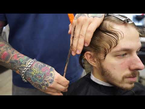Hair Transformation Men's Hair  Barbershop Haircut Takes His Looks to the Next Level photo