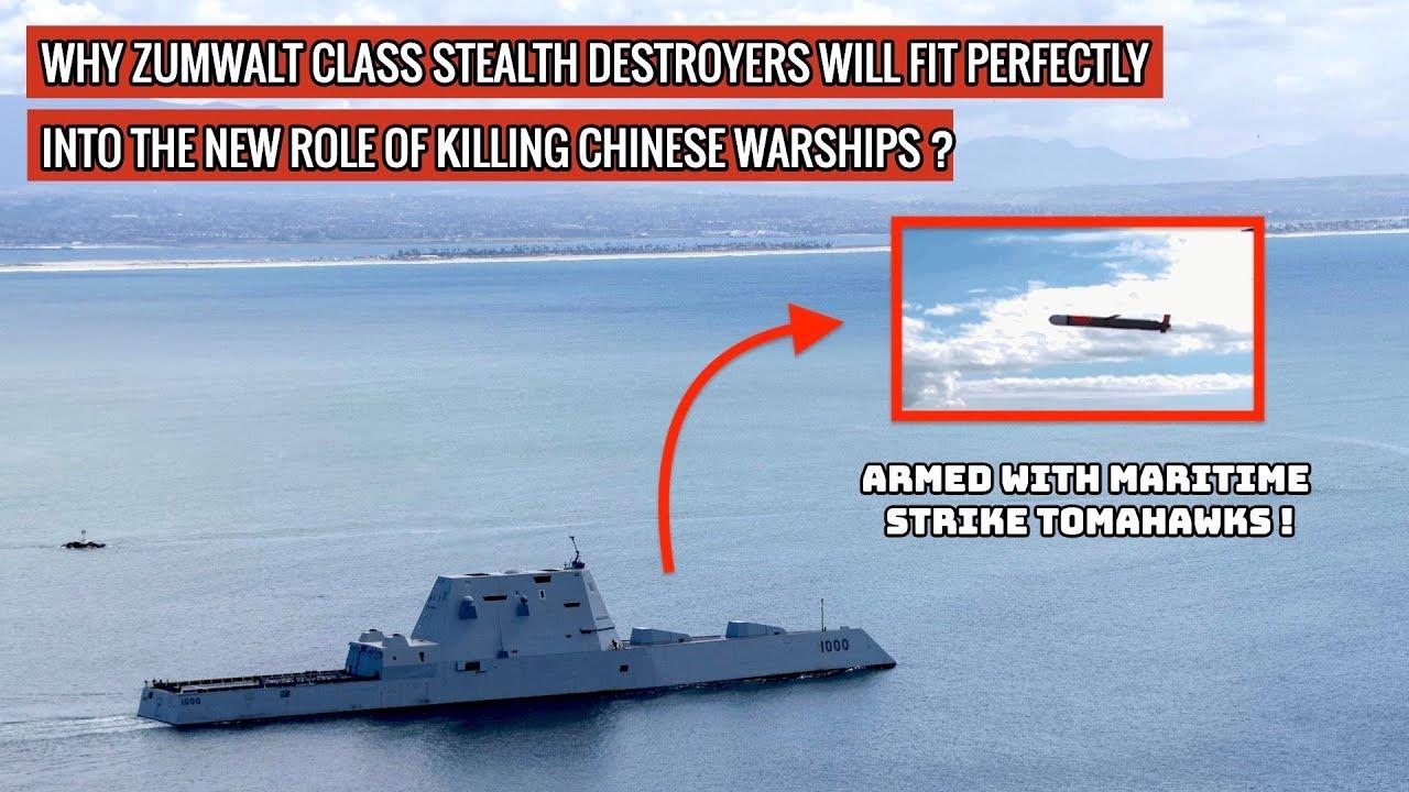 Zumwalt Class Warships Armed Wth Maritime Strike Tomahawks Will Take On Chinese Navy !
