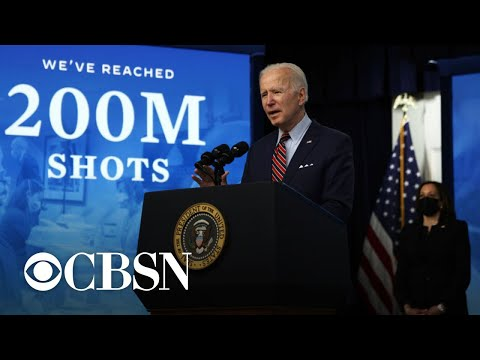 Biden celebrates 200 million administered COVID shots as vaccination pace slows