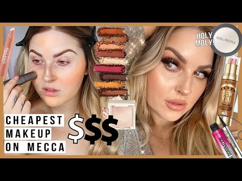 ? full face of the CHEAPEST MAKEUP on MECCA COSMETICA! ?
