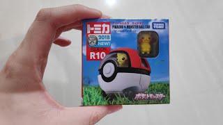 Unboxing Takara Tomy Tomica Ride On R10 Pikachu & Monster Ball Car (Pokeball)