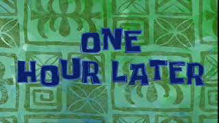 (FREE) ONE HOUR LATER TIME CARD SPONGEBOB - FREE TO DOWNLOAD