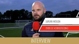 """Screenshot van video Jurjan Wouda over de voorbereiding: """"We werken toe naar de belangrijke bekerwedstrijd tegen HSC'21"""""""