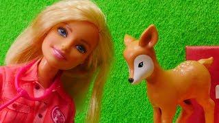Spielspaß mit Puppen. Tierärztin Barbie und die Tiere im Wildpark