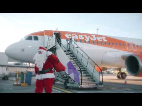 Father Christmas arrives at London Luton Airport