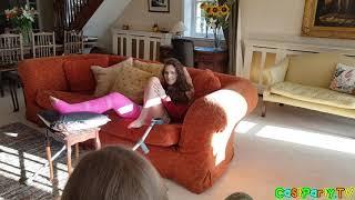 Pink Long Leg Cast