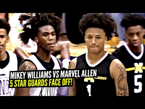 Mikey Williams vs Marvel Allen! 5 Star 2023 Guards BATTLE IT OUT!