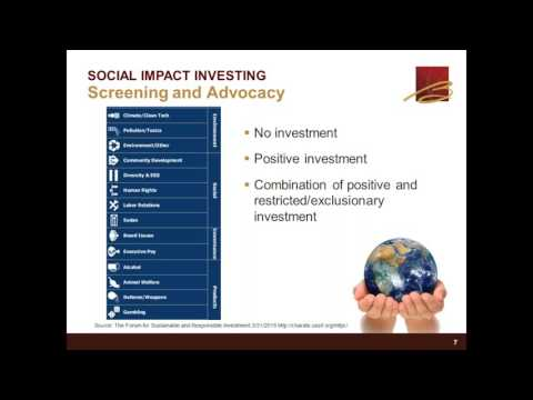 2016-09-28 SOCIAL IMPACT INVESTING - Promoting positive change within your portfolio
