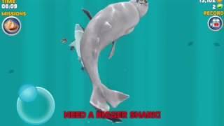 Hungry Shark Evolution - Great White Shark vs. Moby Dick