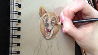 Drawing Time Lapse: Koda from Brother Bear (Part 2)
