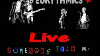 Eurythmics Somebody Told Me Live 1983 UK
