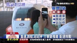 【TVBS】「快慢車」擠一線! 高鐵駕駛「配速」拚準點