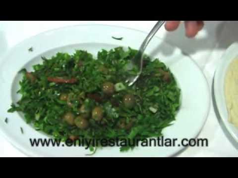 Zahter Salatası Yapılışı,Salata Tarifleri,Akdeniz Hatay Sofrası www.eniyirestaurantlar.com