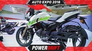 TVS Apache 200 Ethanol @ Auto Expo 2018 : An Apache That Hates Petrol:  PowerDrift