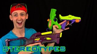 NERF STEREOTYPES | THE VINTAGE/90'S NERFER!