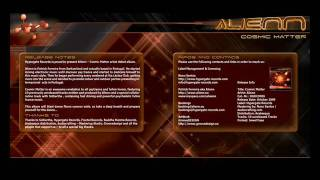 PSYCHEDLIC ALBUM ALIENN COSMIC MATTER RELEASE 9 OCTOBER 2009