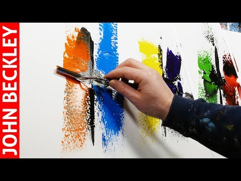 Easy Abstract Painting Demonstration | ASMR Painting | Illenium