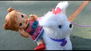 Baby Alive Machucadinho anda de Patinete e Cachorrinho GoGo! Fun Real Friend