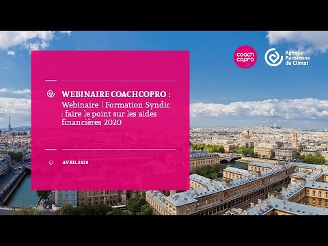 Webinaire | Formation Syndic : faire le point sur les aides financières 2020