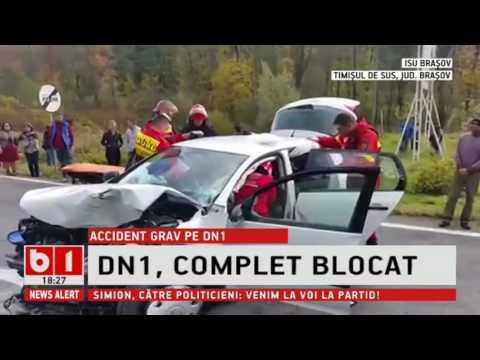 DN 1 blocat accident grav