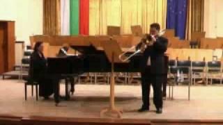 Beau Soir by Claude Debussy, Live concert on May 2010 in Vraza Playing   Vitan Vlahov trombone, Iliana Iotova piano1