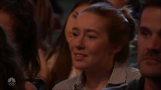 """Emotional Girl"" in Laura Bretan & Grace VanderWaal AGT Auditions"