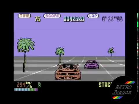 Out Run para Commodore 64 - Review de RETROJuegos de Fabio Didone