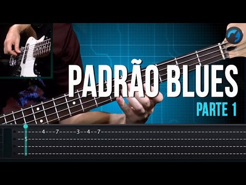 Padrão Blues - Parte 1 (como tocar - aula de contra-baixo)