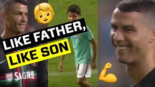 Like father Like son: Cristiano impressed with son's skills in cute video